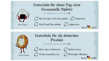 Coupon Rewards for German Teachers - Gutscheine