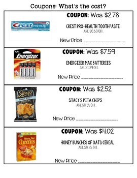 Coupons: What is the cost?