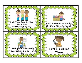 Coupons and Rewards for Good Behavior