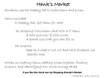 Shopping Hank's Market
