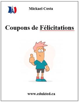 Coupons et billets de félicitation et d'encouragement French Immersion (153)