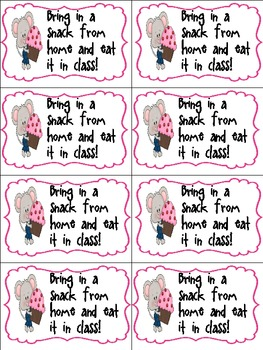 Coupons for Classroom Rewards 14 different ones