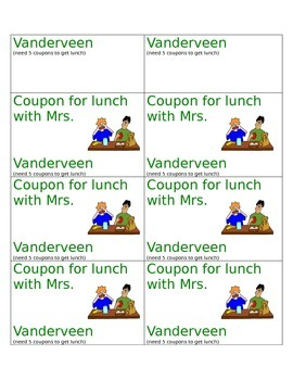 Coupons for Positive Behavior