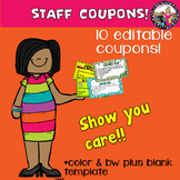 Coupons for Staff!  Show Appreciation! Gift of TIME!