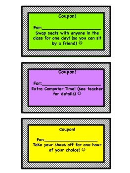 Coupons for the Classroom!