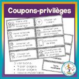 Coupons-privilèges