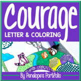 Courage Coloring Pages Posters - Woodland Forest Theme