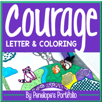 Courage Activity:  Courage Coloring Pages