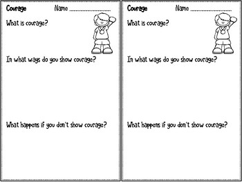 Courage - Monthly Character Education Pack