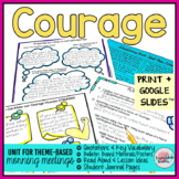 Courage Activities | Courage Morning Meeting Theme in Literature