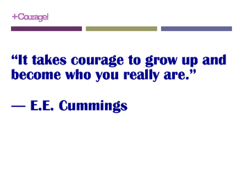 Courage Quotes Posters (8.5 x 11)