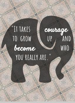 Courage Quote Freebie!!