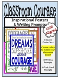Courage Quote Posters and Writing Prompts