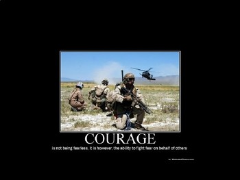 Courage:  definition and images