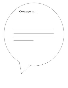 Courage tag template