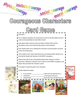 Courageous Characters Card game