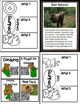Courdoroy (Mini book companiion with paired non-fiction activities)