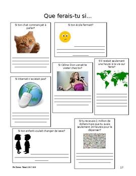 Cours de français, élémentaire/intermédiaire - recueil d'activités