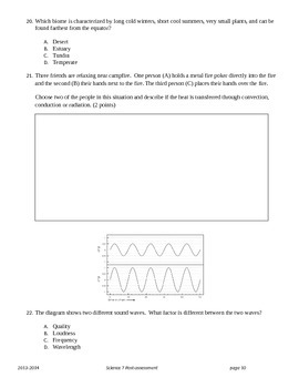 Course Assessment for Grade 7 Science (Ohio Standards)
