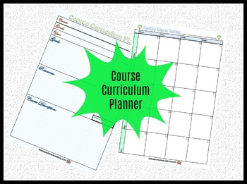 Course Curriculum Planner