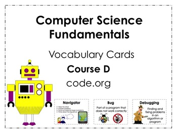 Course D code.org Vocabulary Posters