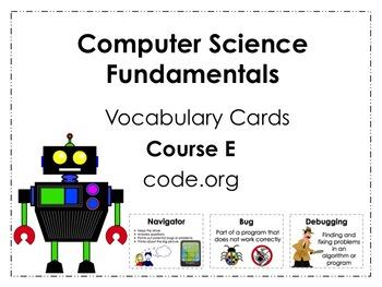 Course E code.org Vocabulary Posters