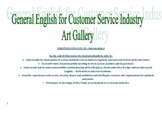 Course Outline - General English for museum/gallery staff