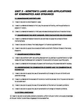 Course Outline for Grade 12 Physics (Outcomes)