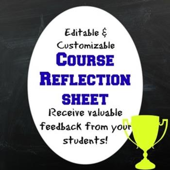 Course Reflection Sheet
