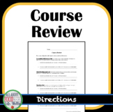 Course Review Questions