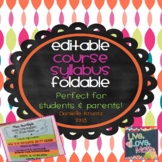 Course Syllabus Foldable - EDITABLE
