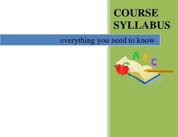 Course Syllabus Template - Class Information