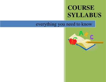 Course Syllabus Template - Class Information