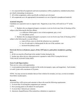 Course Syllabus for English 7