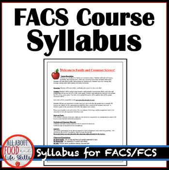 Need Ideas? Course Syllabus for FACS, FCS