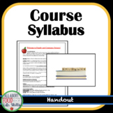 Course Syllabus for FACS