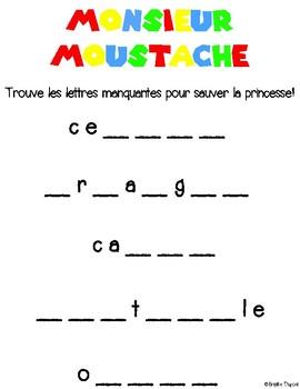 Course de mots - Monsieur Moustache