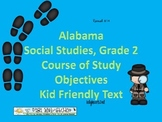 Course of Study Objectives for Social Studies in Alabama