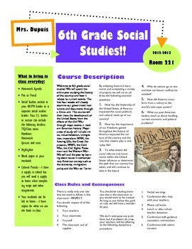Course overview newsletter