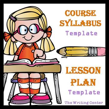 Editable syllabus and lesson plan templates
