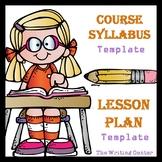 Editable syllabus and lesson plan templates