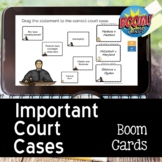 Court Cases of the New Republic BOOM CARDS for Distance Learning