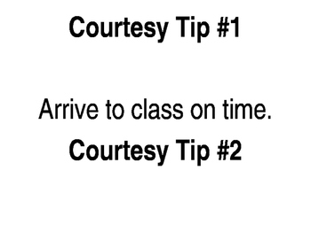 Courtesy Tips for the Classroom