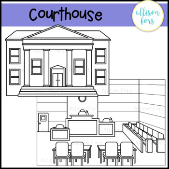 Courthouse and Courtroom Clip Art