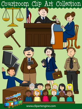 Courtroom Clip Art Collection