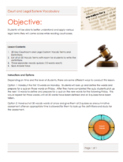 Courtroom and Legal System Vocabulary Unit