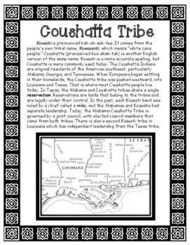 Coushatta Native American Tribe of Louisiana Informational