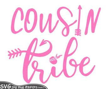 Cousin tribe Silhouette SVG clipart family reunion quote iron on shirt coz 76SV