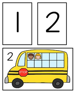 Couting Friends On The Bus - Circle Time Activity