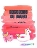 Couvertures de cartable de stage